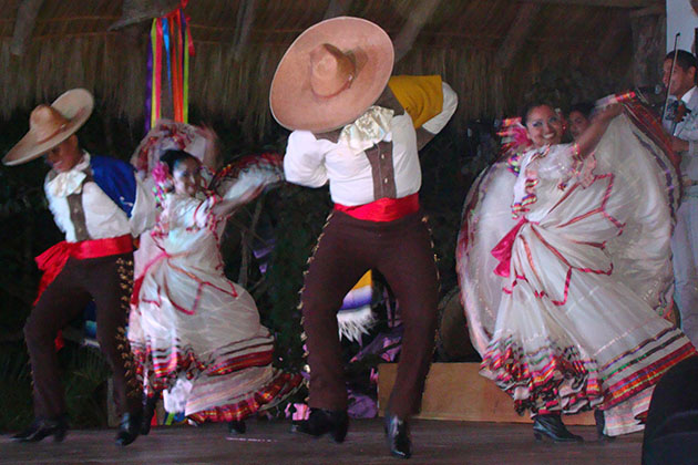 Mariachi Dancers During Azamara's AzAmazing Evenings